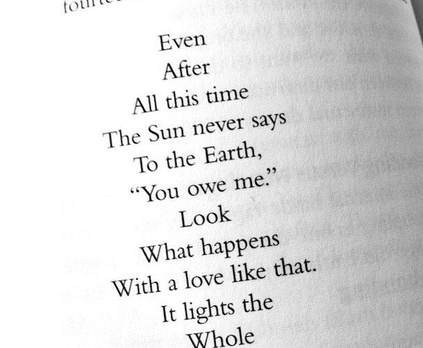 When a Simple Poem Understands Us: A Prescription